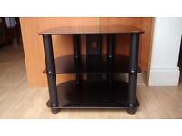 Black glass TV stand / table in great condition