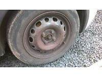x2 steel wheels 100pcd with 175/65/14