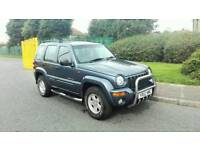 2002 JEEP CHEROKEE LIMITED 2.5 CRD TURBO DIESEL MET BLUE M.O.T SERVICE HISTORY EXCELLENT 4X4