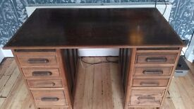 Large Desk Early 1900's lots of character Ideal for upcycle