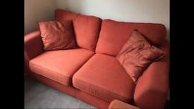 2 seater sofa (dfs), footstool (next)