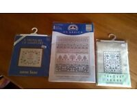 3 New Sampler kits with threads. £5 each