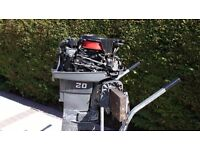 Mariner 20HP outboard Engine 2 Stroke long shaft Runs fine needs Gearbox