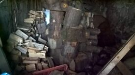 Barn stored Split Logs