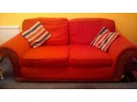 Large 2 Seater Sofa & Footstool