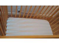 Kiddicare space saver cot and Baby Weavers Kiddicare mattress