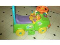 Toddler ride along car