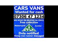 ♻️‼️SELL MY CAR VAN BIKE FOR CASH ANY CONDITION SCRAP DAMAGED NON RUNNING FAST COLLECTION TODAY 1A