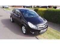 Black 3 Door Vauxhall Corsa. SXI 1.4 Petrol (A/C)