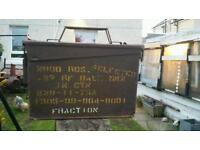5 vintage ww2 amunition boxes