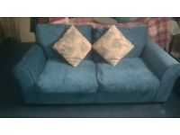 2 seater sofa bed colour teal
