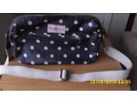 A Cath Kidson Navy white button spot shoulder Bag
