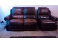 Reclining Leather Sofa (Burntwood Staffs)