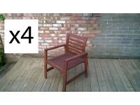 6 IKEA ÄPPLARÖ garden chairs (4 with armrests + 2 reclining) - feel free to have a look !