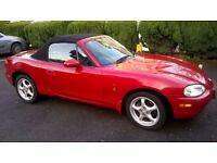 Mazda MX5 2001 Red Convertible