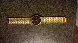 Rotary Mens Gold Colour Metal Watch