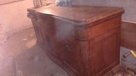 Large wood sideboard - Heavy