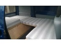 hijet/micro campervan interior seat/bed with storage