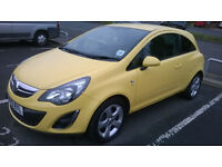 Lovely Yellow Vauxhall Corsa SXI 1.4 2013 for sale!!
