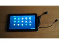 """Android tablet selling cheap 9"""" screen fully working with power cable"""