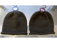 High quality new with tags Khaki Green Woolen beanie hat.