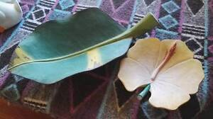 Banana Leaf and Flower Wooden Bowls - fruit Christmas Gift AS NEW Cairns Cairns City Preview