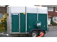 Ifor Williams 505 horse trailer, green