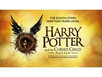 Two Tickets for Harry Potter and the Cursed Child Parts 1 AND 2, THIS WEDNESDAY AUGUST 3RD