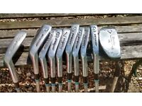 Used Ladies Jessie Valentine Irons and putter made by Dunlop,steel shafts and rubber grips .