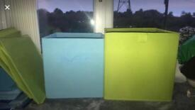 Various canvas storage boxes