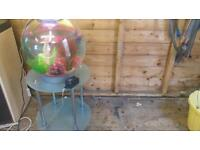 60 LITRE BIORB FISHTANK WITH GLASS STAND IN EXCELLENT CONDITION WITH LED LED LIGHTING