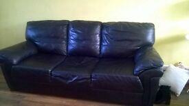 2 Seater and 3 Seater leather couch