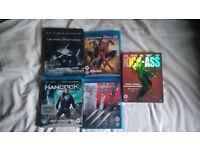 Dark Knight Rises - Kick-Ass - Spider-man 3 - Hancock - X-Men Origins (Blue-ray)