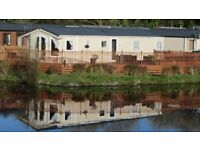 4 * Privately Owned Lakeside with furnished deck. Woodland Vale Ludchurch Nr Tenby 2 adults only