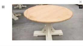 John Lewis & Partners Round 4-6 Seater Dining Table, WHITE