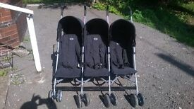 Obaby Mercury Triple Stroller Pushchair excellet condition, collect in Leeds, Castleford, Liversedge