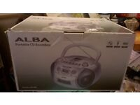 ALBA COMPACT CD BOOMBOX NEW IN BOX