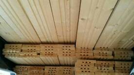 21mm x 145mm Sawn Boarding - Planed / Grooves - Untreated