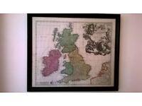 antique map uk and ireland