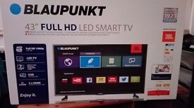 """Blaupunkt BLA-43/134MXN Smart TV with built-in Wi-Fi 43"""" Full HD LED TV with Freeview HD"""