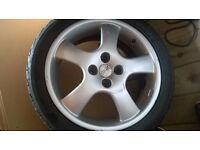 17inch alloy wheels with decent tires.oz alloys 4*100 fitment .going very cheap.