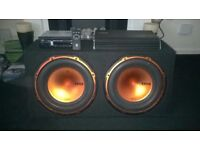 Car amp, Twin speakers and Bluetooth remote stereo