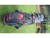 Wilson pro golf clubs trolly and bag