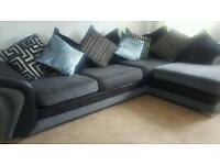 SOLD PENDING COLLECTION Dfs Corner unit and cuddle chair