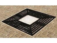 Marshalls 60 series cast iron tree grille and frame 1400 x 1400mm black