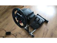 Logitech G29 + wheel stand pro, like a new!