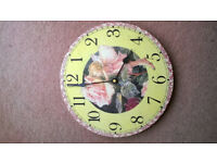 Child's wall Clock - Flower Fairy design