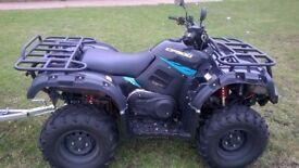 CF Moto (Quadzilla) 500cc road legal quad bike with tipping trailer - nationwide delivery available