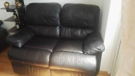 Double Sofa Couch Leather / Recliner