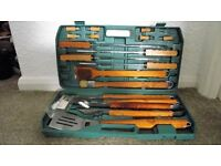 complete set of barbeque tools used approx times